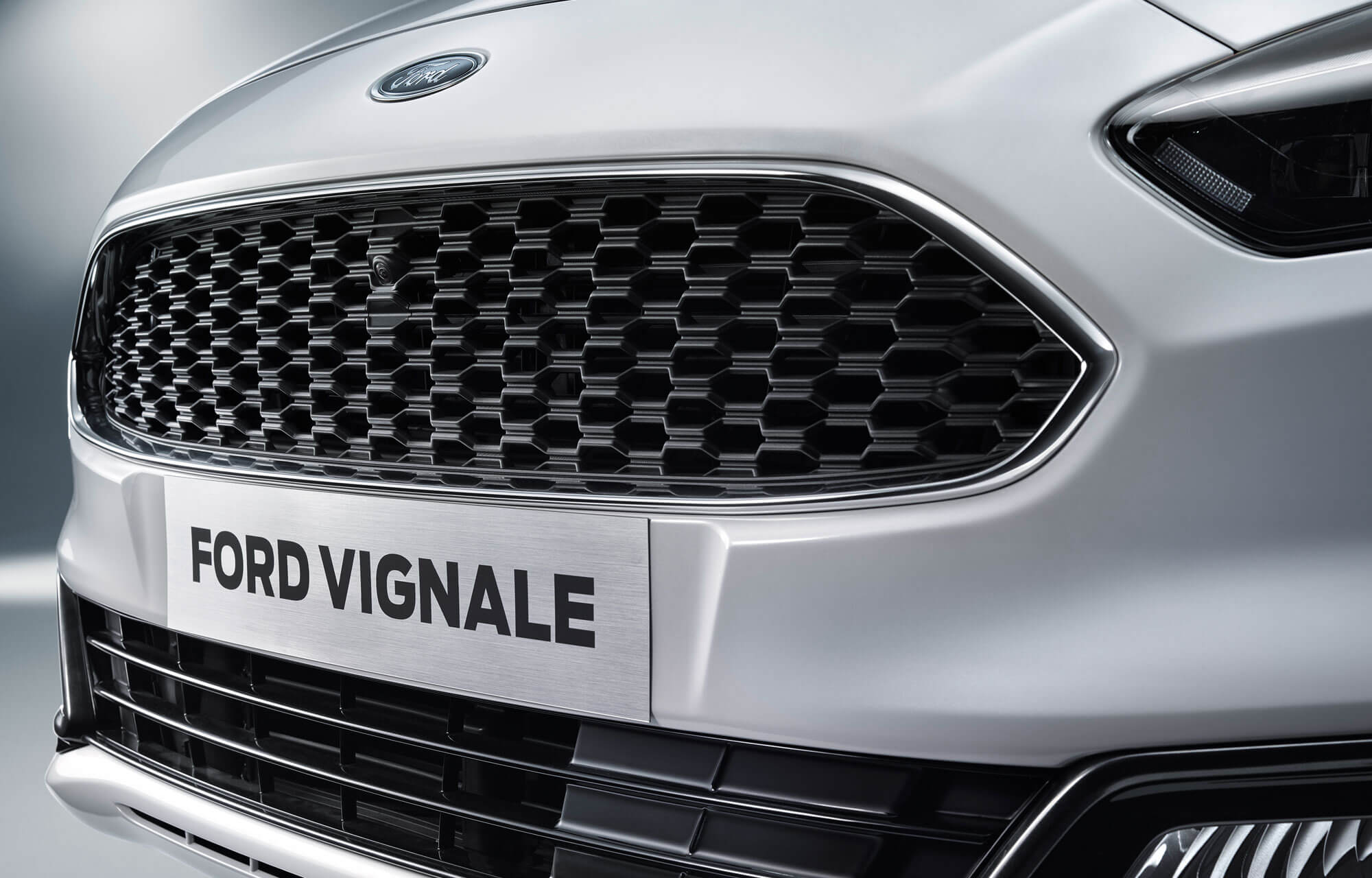 Interieur van de Ford Edge Vignale