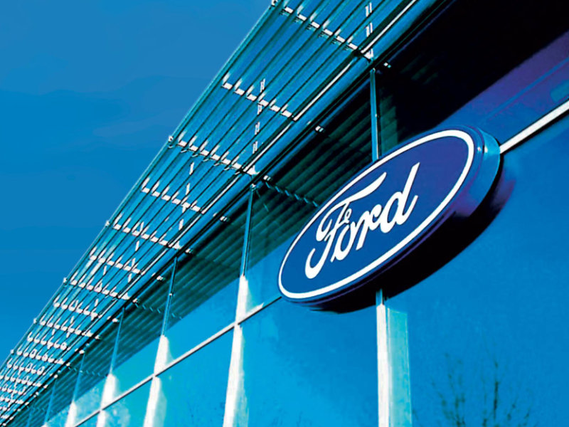 Ford buitenkant pand logo