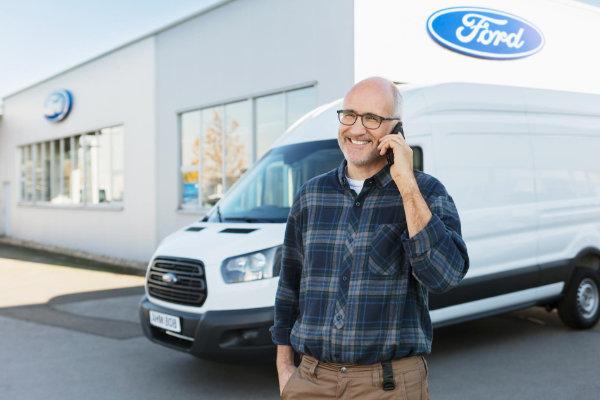 Ondernemer met Ford Transit