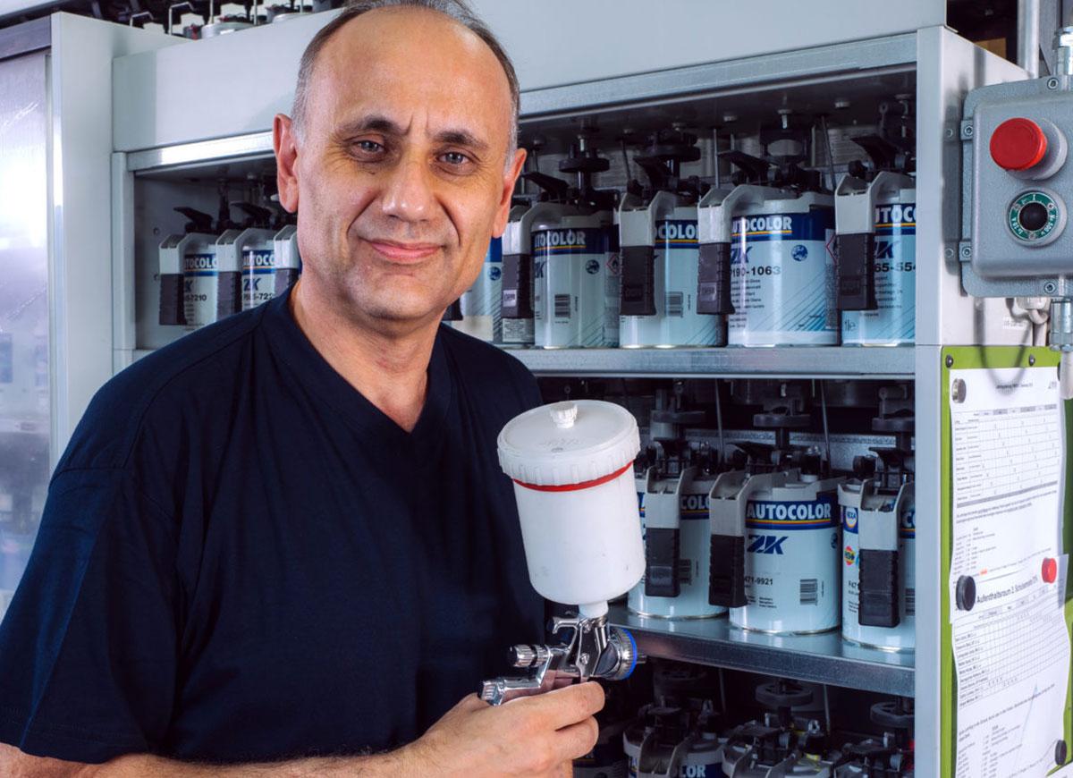 Hansruedi Sommer, Stv. Werkstattchef / Autolackierer