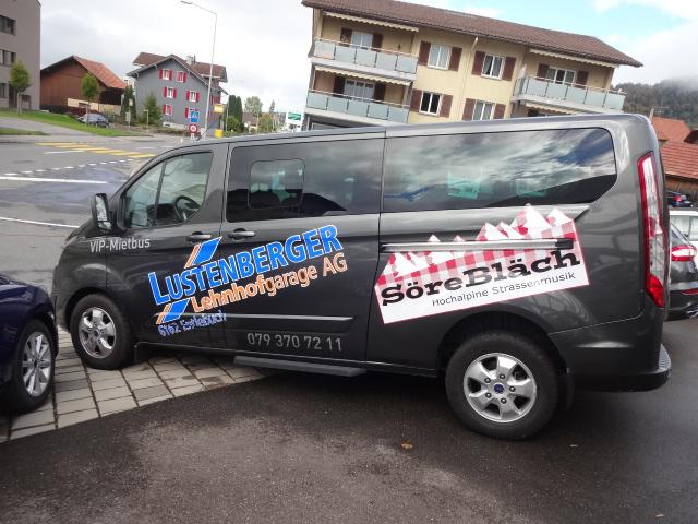 Vermietung Tourneo Custom, Lustenberger Lehnhofgarage AG, Entlebuch