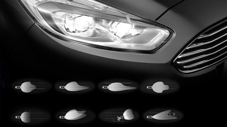 Dynamische Ford LED-Scheinwerfer