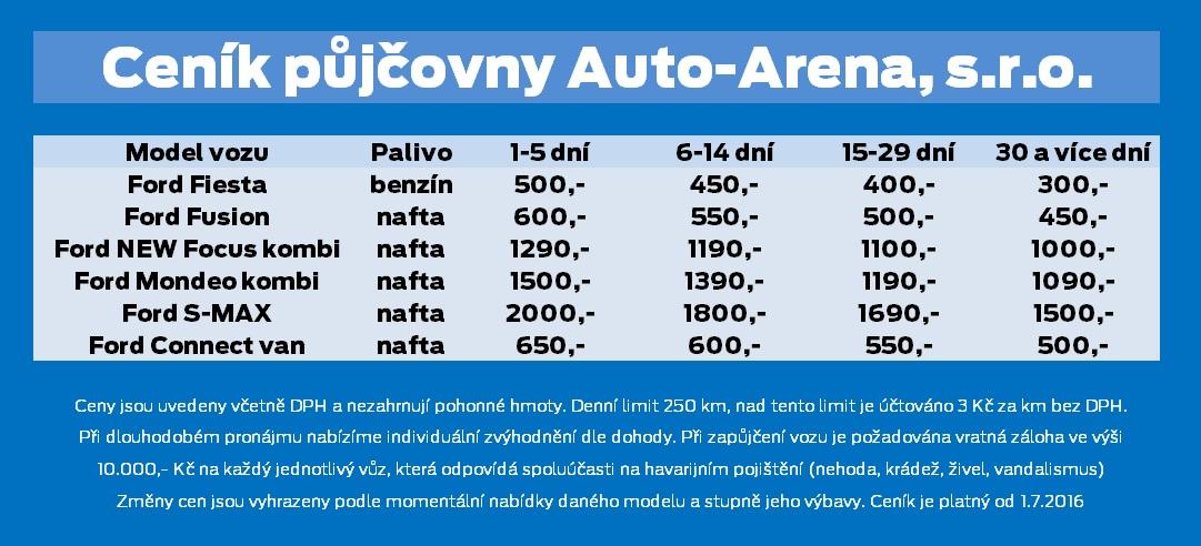 Autopůjčovna Auto-Arena