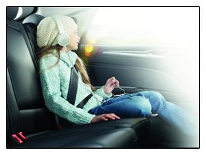 Zadní nafukovací bezpečnostní pásy