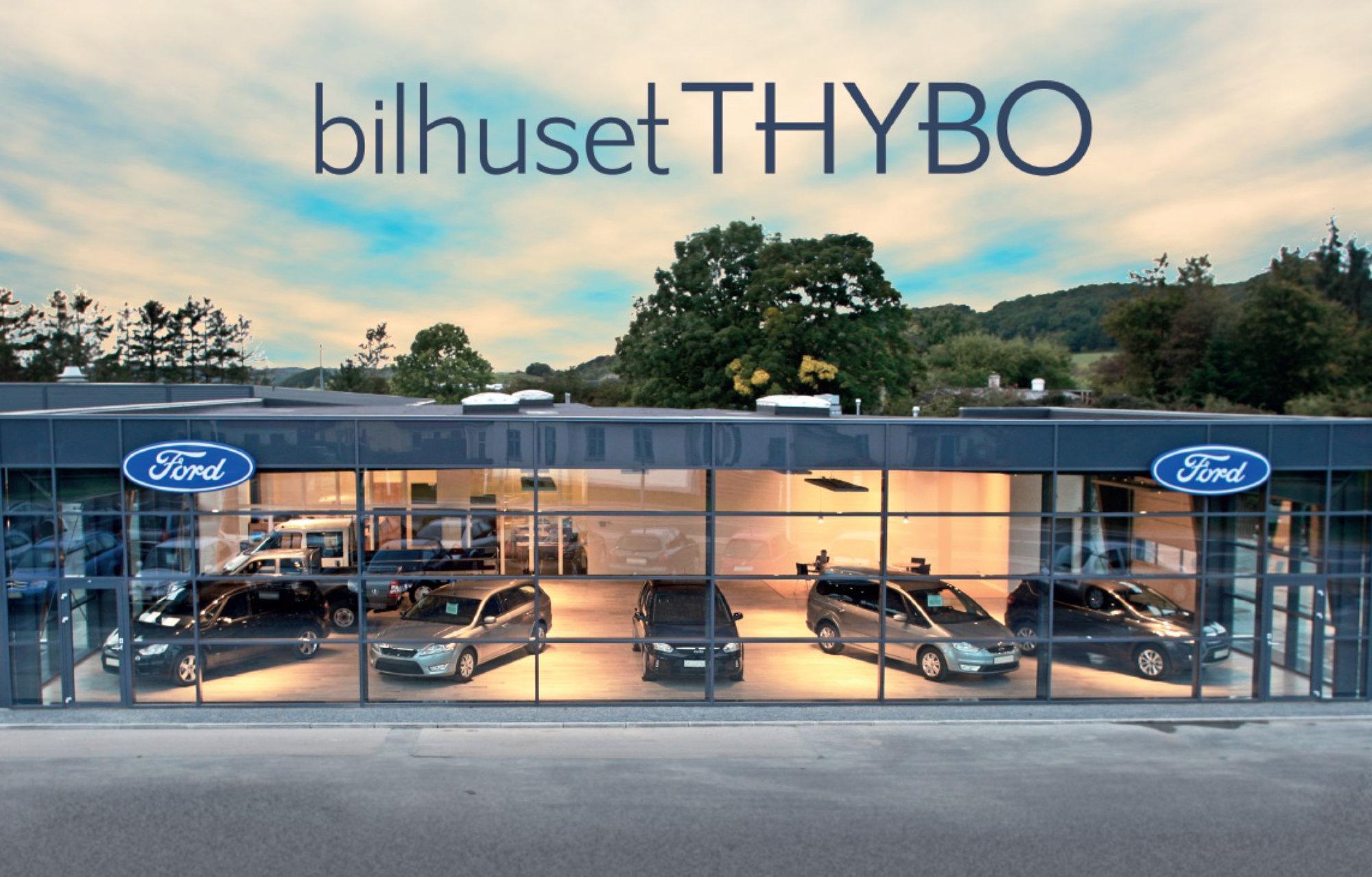 bilhusetTHYBO, Bredagde 74. Første udvidelse af den nye udstilling og kontor står færdig. I alt omfatter det 400 kvadratmeter. År 2007