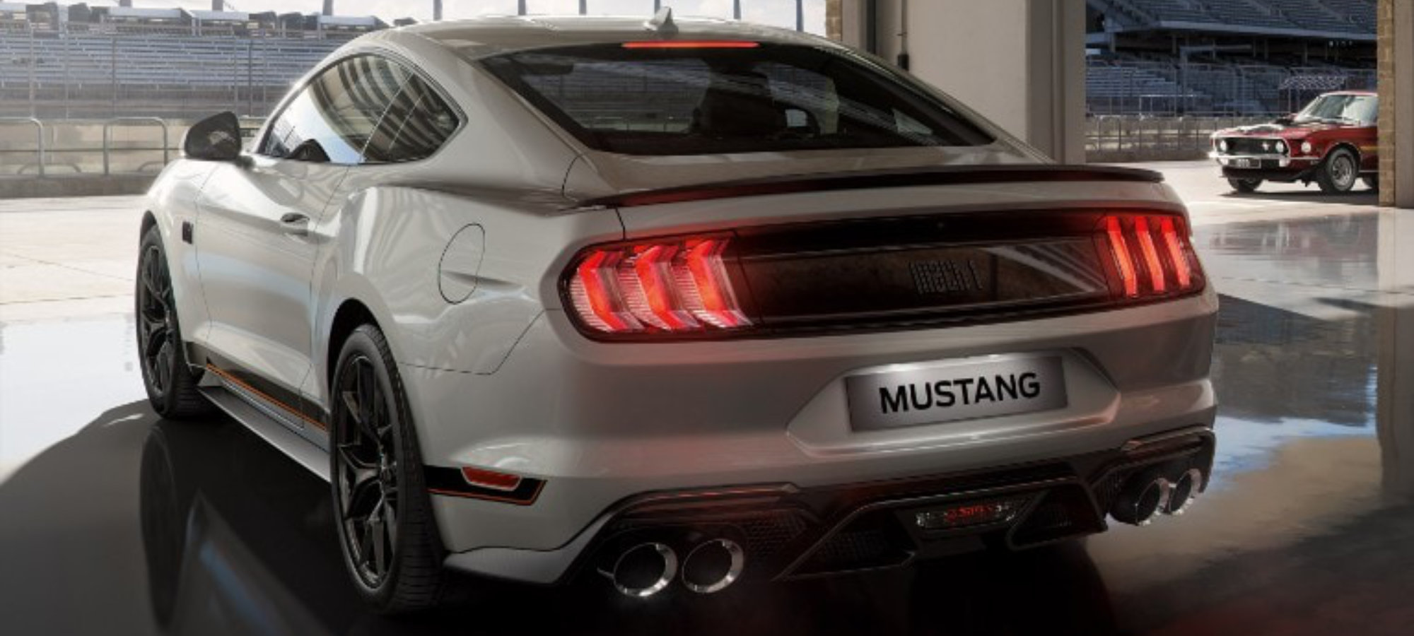 Mustang Mach 1 sølv
