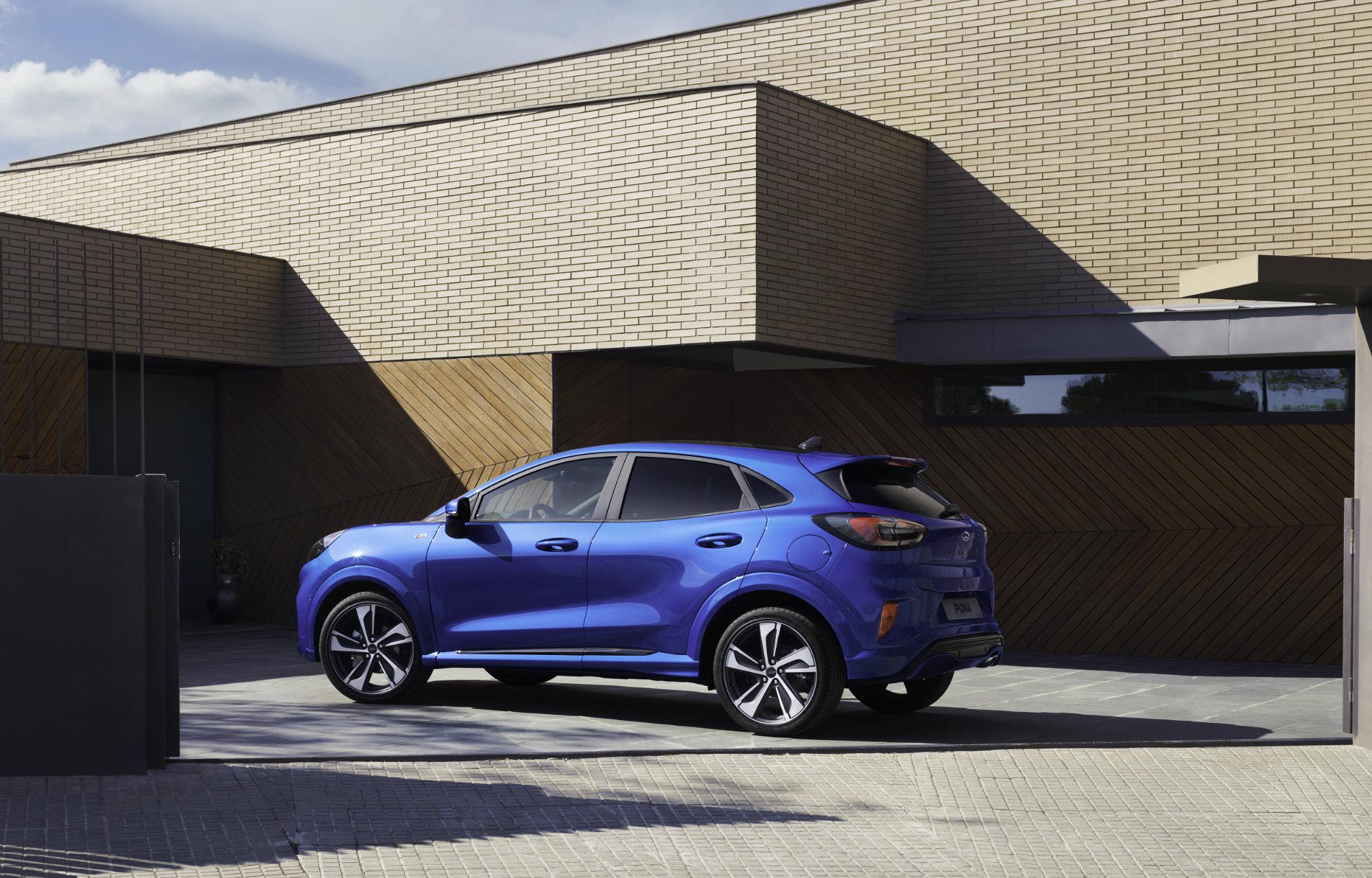 Blue Ford Puma Exterior