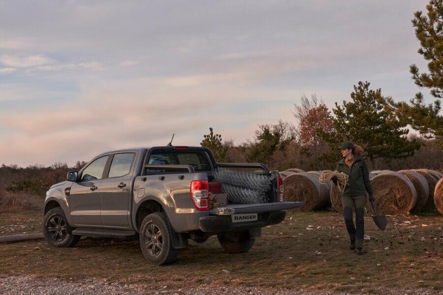 ranger wolftrak grey back hay field woman