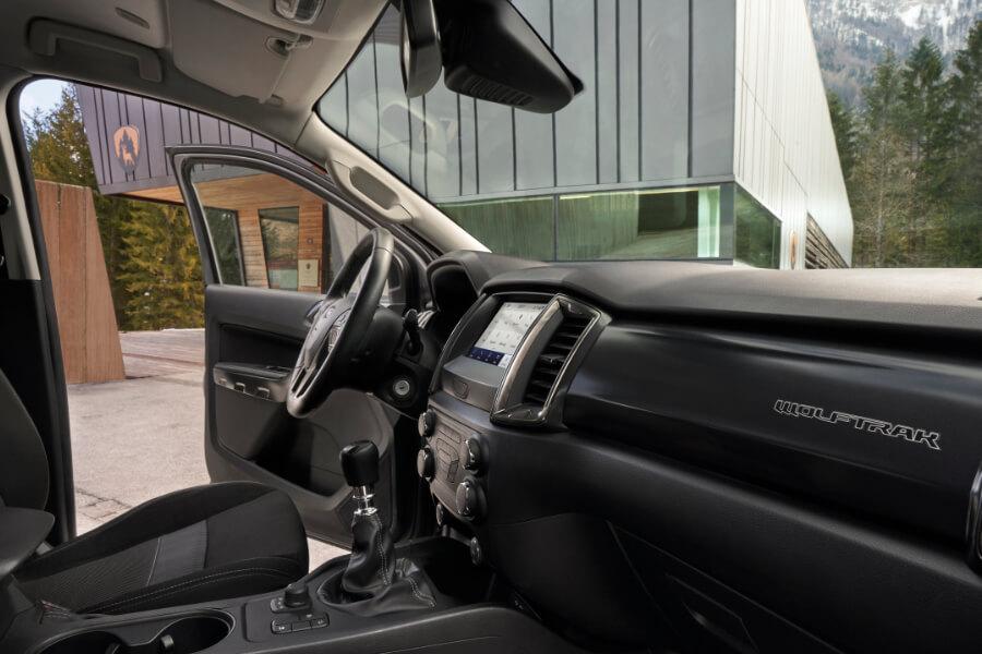 ranger wolftrak grey interior door open