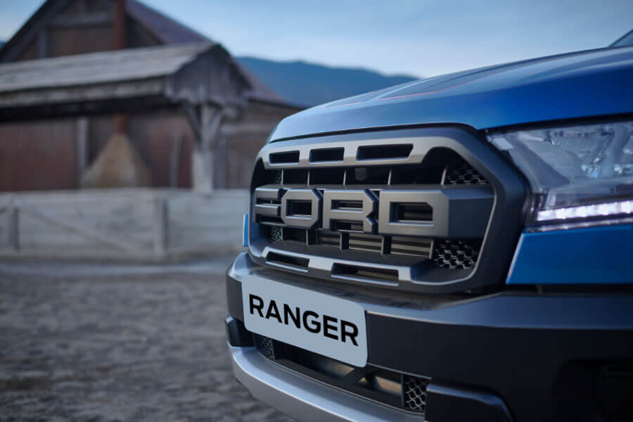 blue ranger raptor front grid