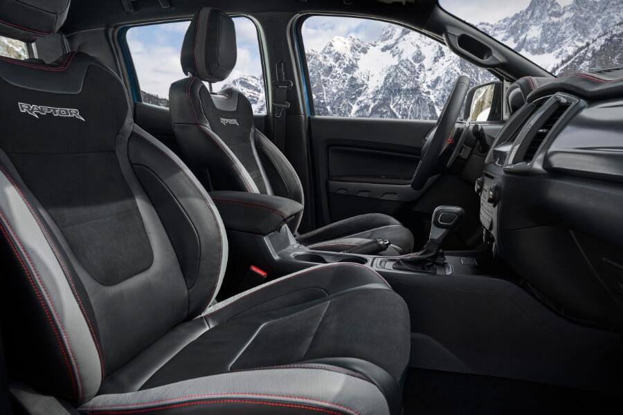 ranger raptor interior seats snow