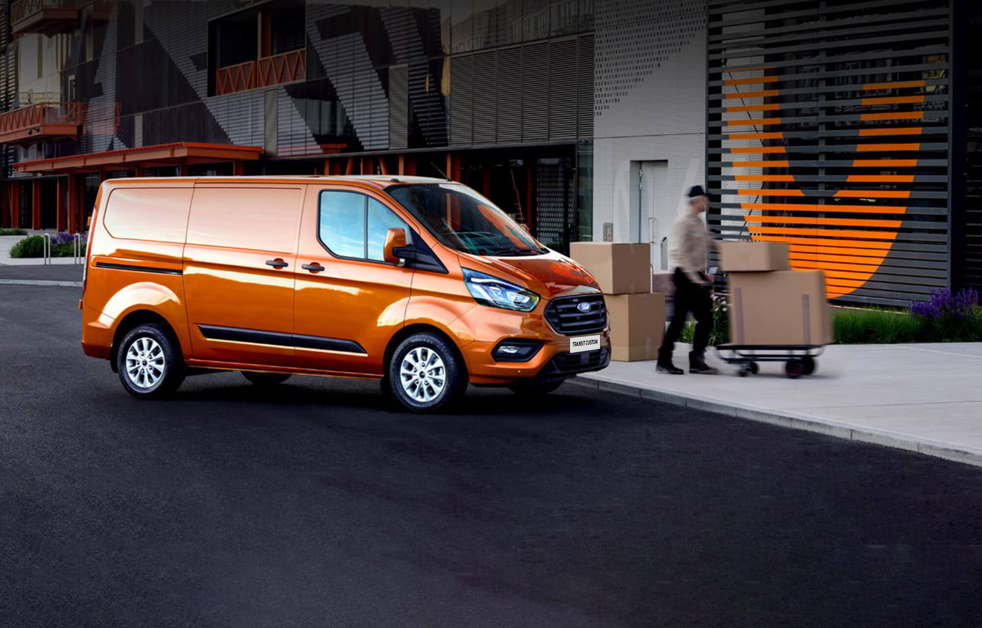 Ford Transit Custom at Porter Ford, Sligo