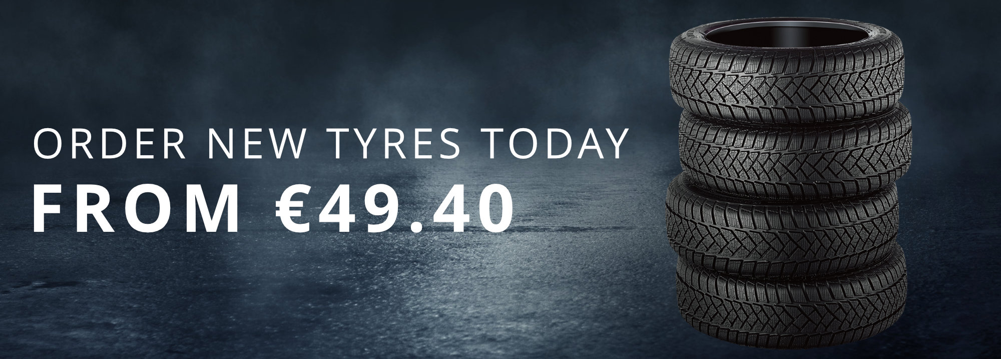 Order New Tyres from €49.40 from Gowan Motors
