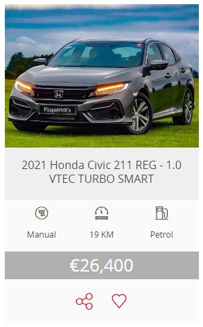 2021 (211) Honda Civic Hatchback 1.0 i-VTEC Smart