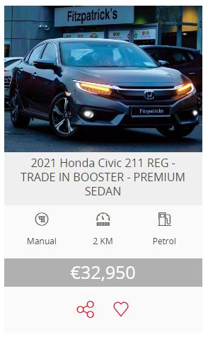 2021 (211) Honda Civic Sedan 1.0 i-VTEC Smart Plus