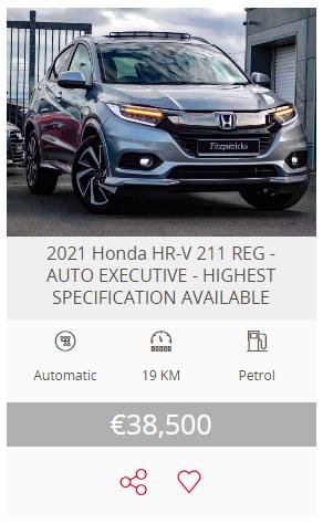 2021 (211) Honda HR-V 1.5 i-VTEC Executive (Highest Specification)