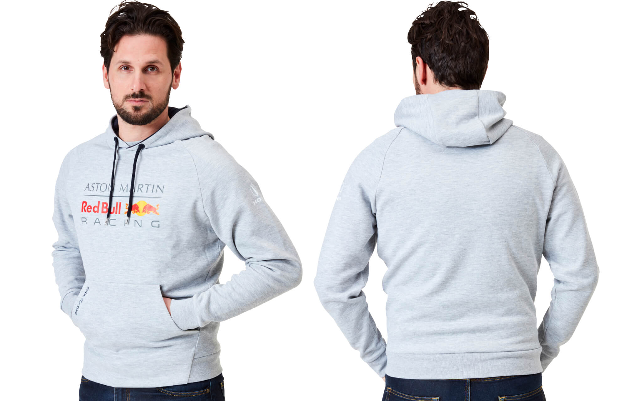Men's Pull Over Hoodie Grey