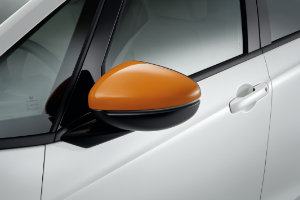 Jazz Hybrid Door Mirror Cover - Fun Orange