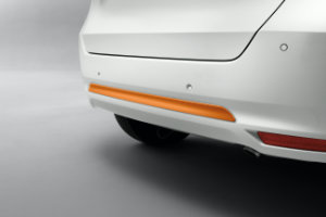Jazz Hybrid Rear Bumper Decoration - Fun Orange