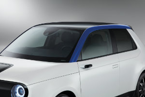Honda e A-Pillar Decoration Nordic Blue