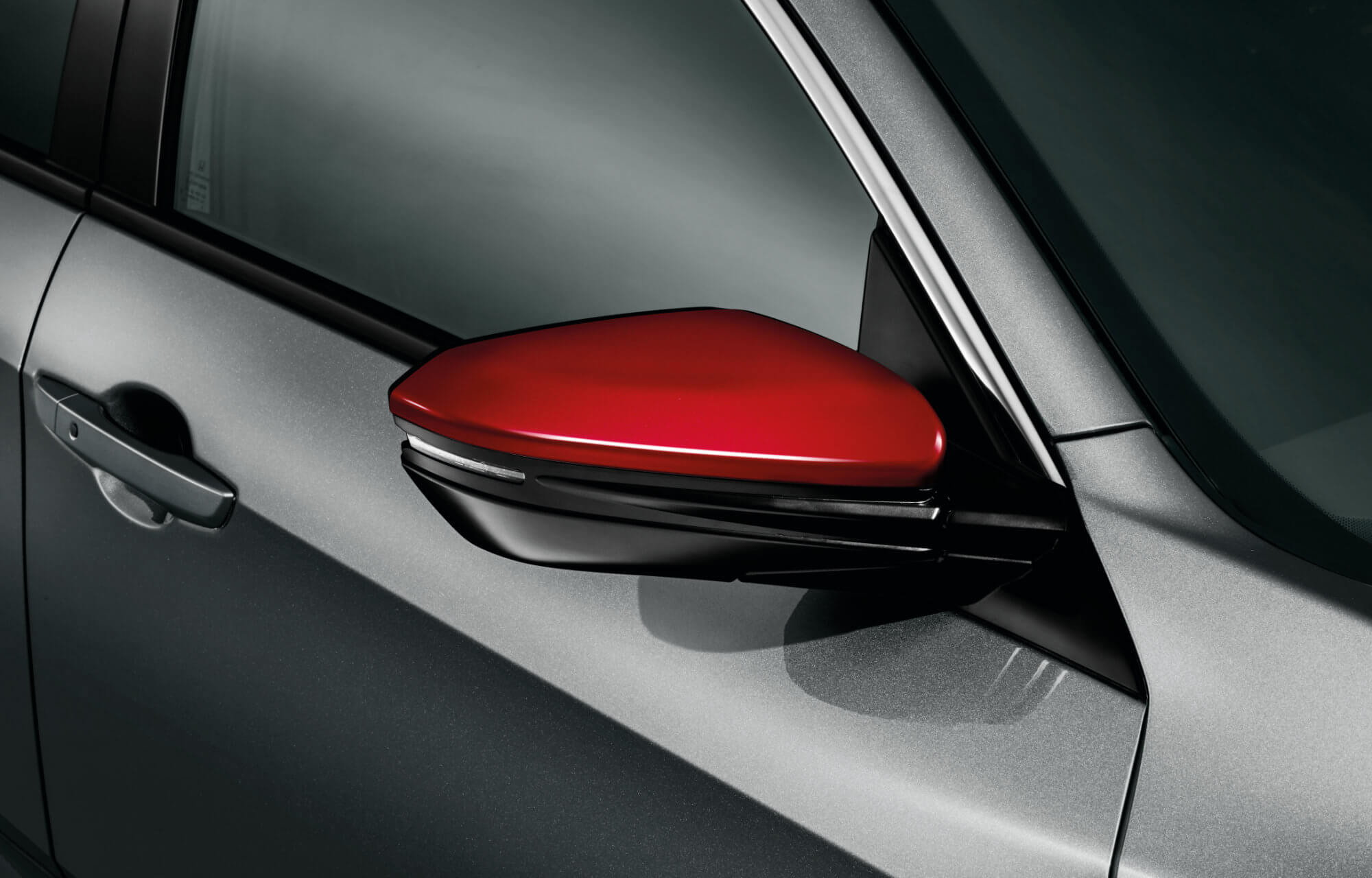 Honda Civic 5 Door Mirror Caps - Rallye Red