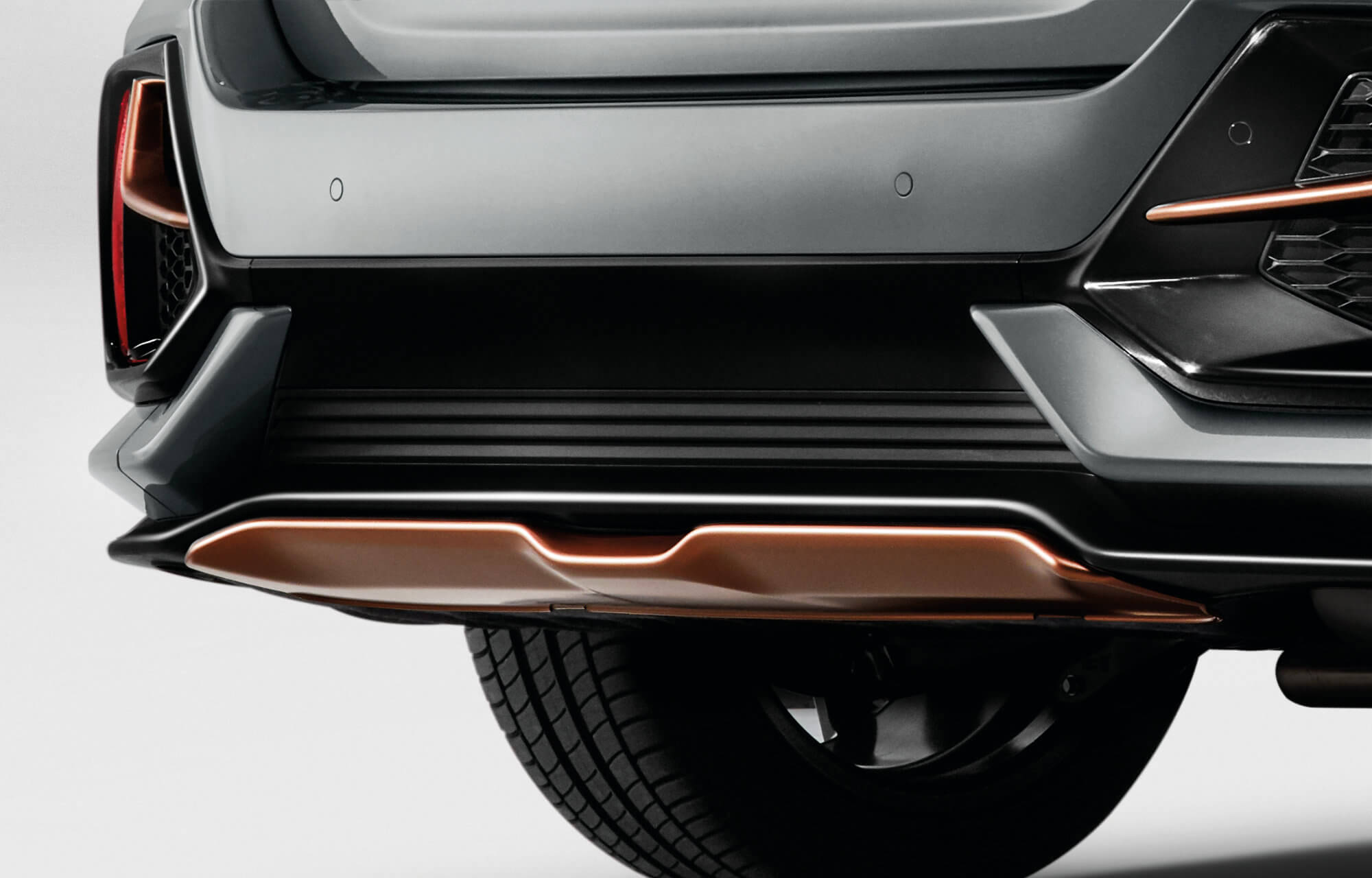 Honda Civic 5 Door Rear Diffuser - Infinite Bronze