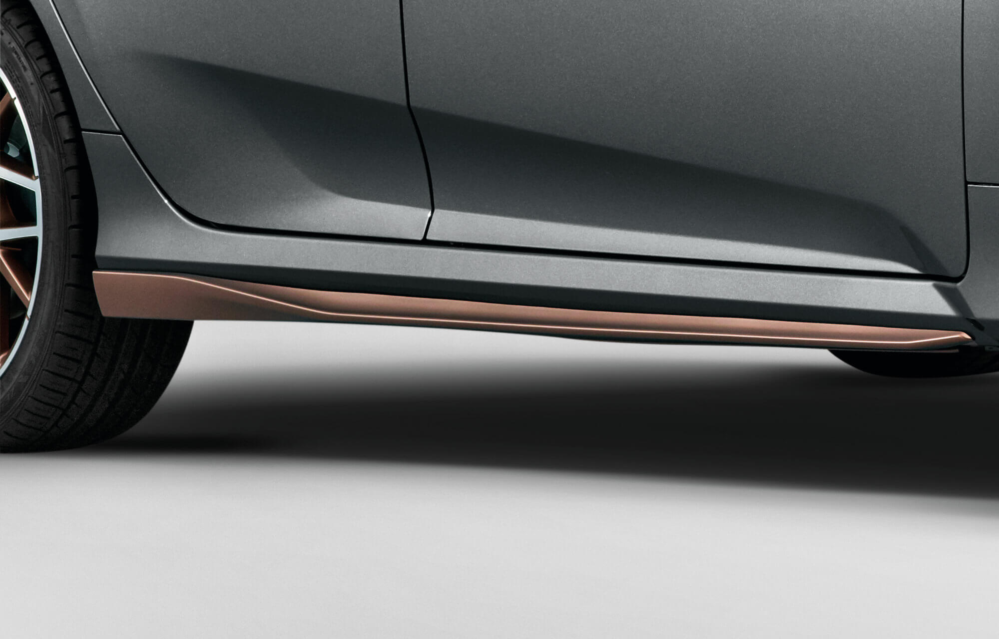 Honda Civic 5 Door Side Skirts - Infinite Bronze