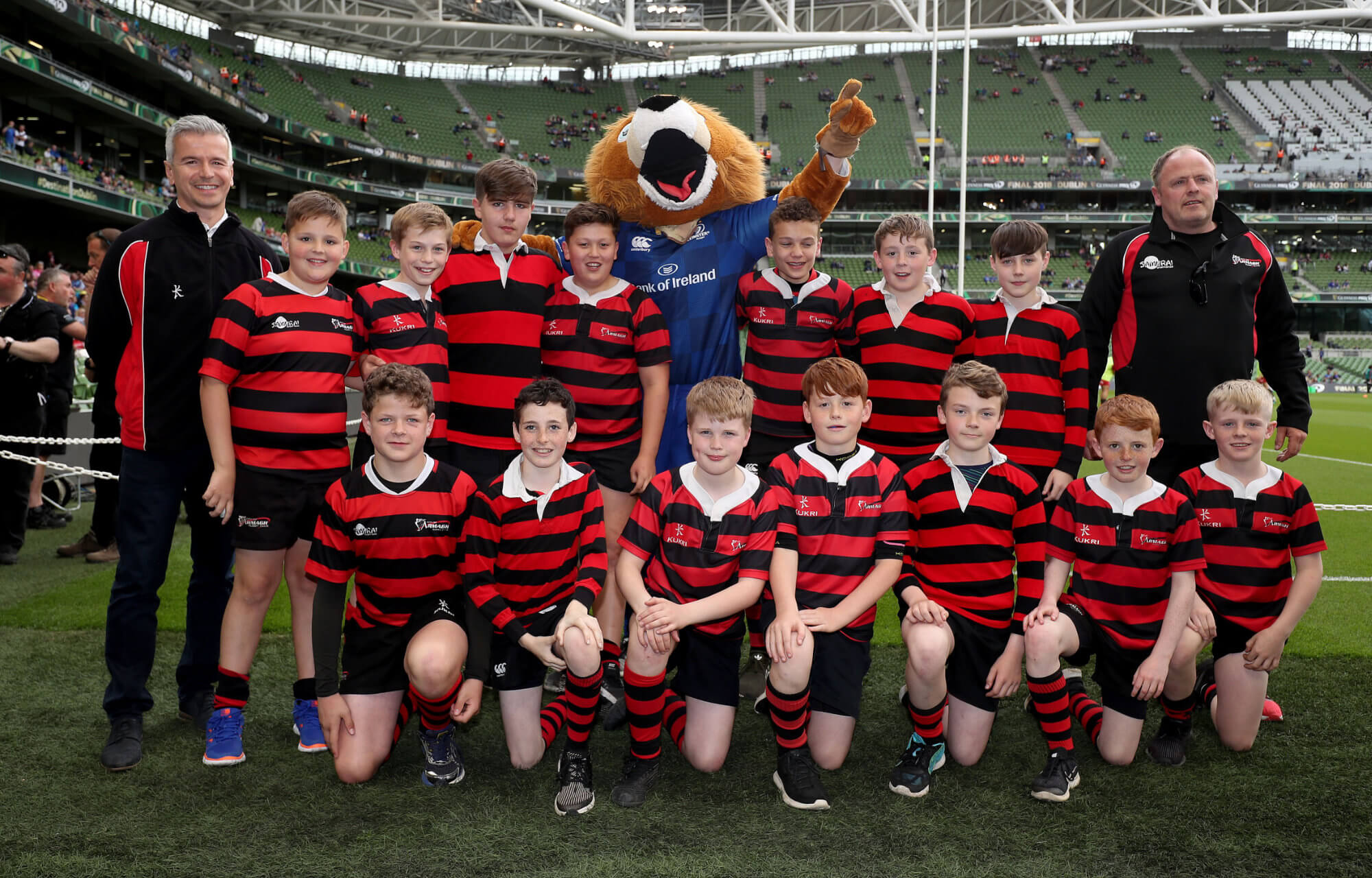City of Armagh Pro14 Rugby Team at Aviva Stadium