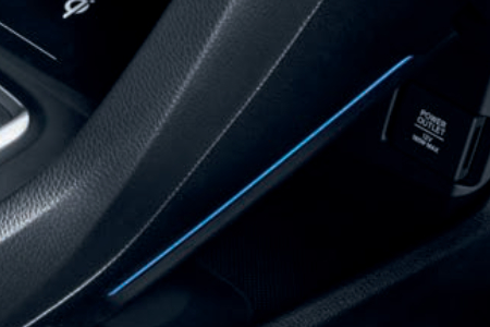 Honda Civic 4 Door Sedan - Blue Console Lighting