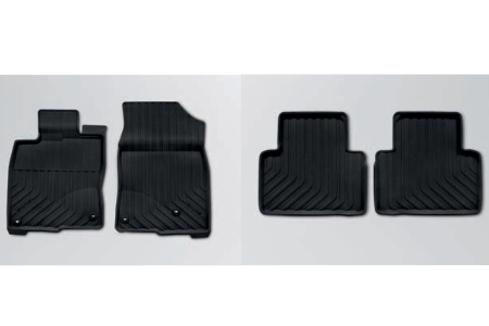 Honda Civic 4 Door Sedan Front and Rear Lipped Rubber Mats