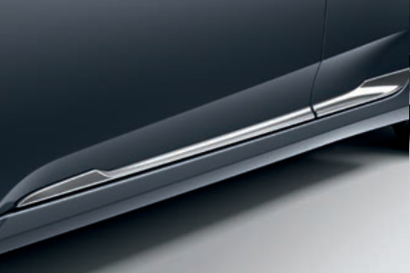 Honda Civic 4 Door Sedan - Lower Door Decoration - Chrome