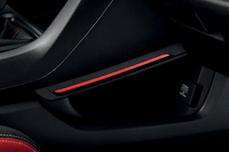 Honda Civic Type R Red Console Illumination