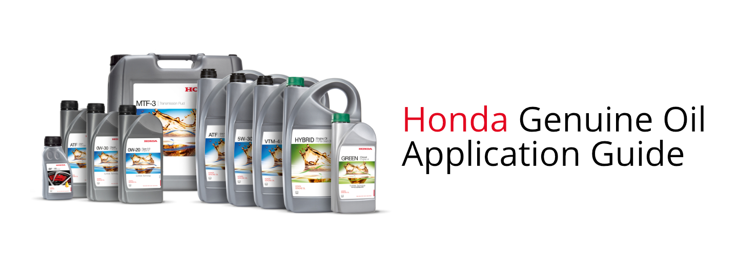 oil application guide by honda oil application guide by honda