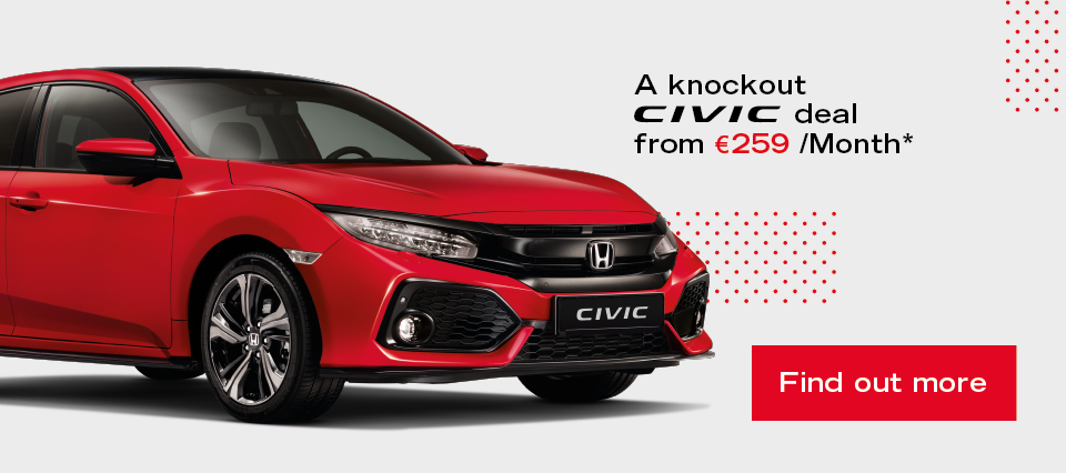 2020 Civic 5DR Hatchback available from €259 per month