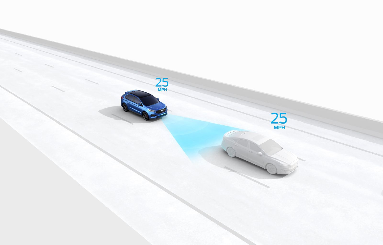 Adaptive Cruise Control with Stop-and-Go can bring your vehicle to a complete stop when traffic slows and then accelerate back to your pre-set speed when things get moving again.