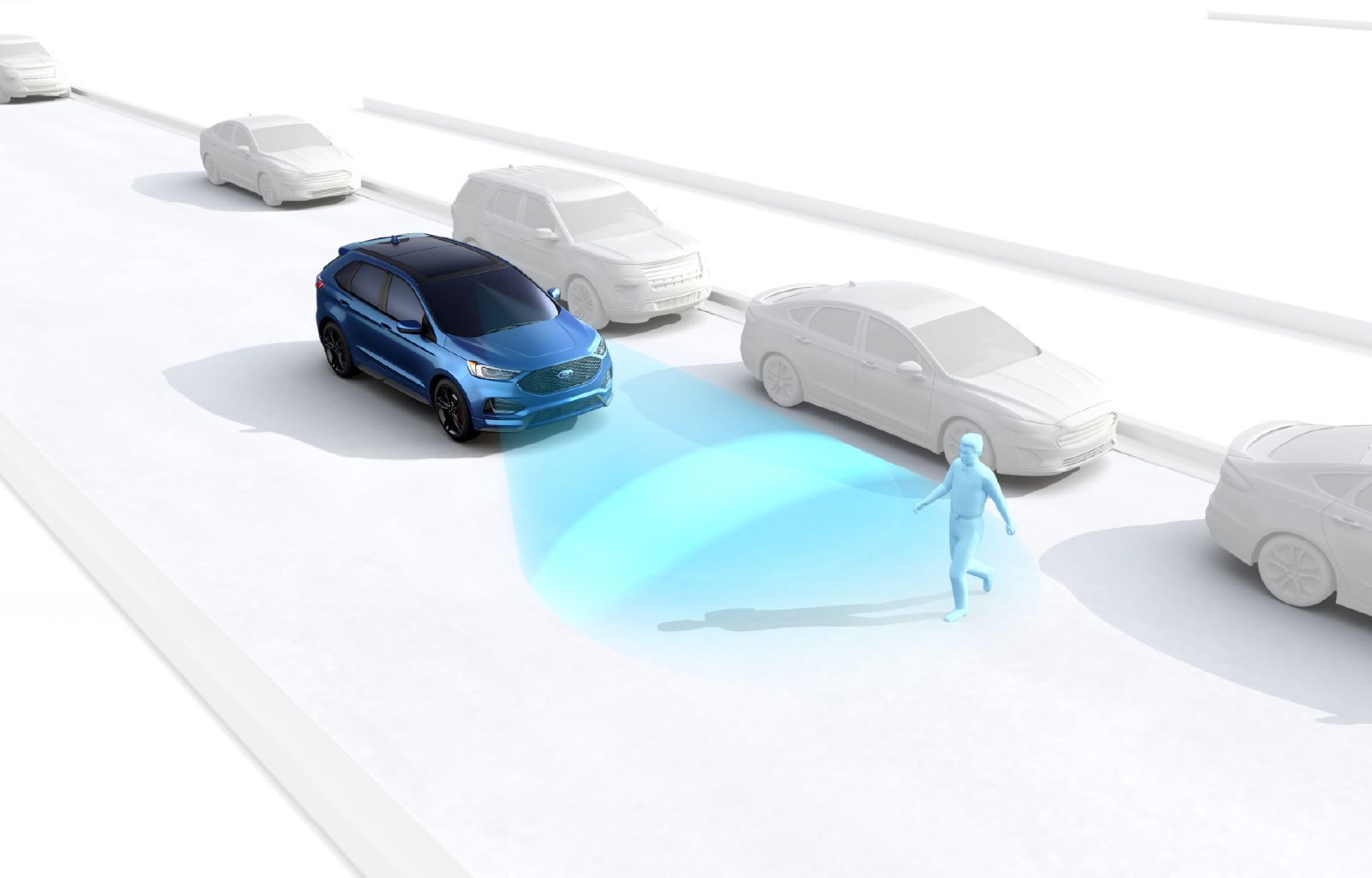 This innovative feature can detect and help you prevent a potential collision with pedestrians and vehicles in your forward path.