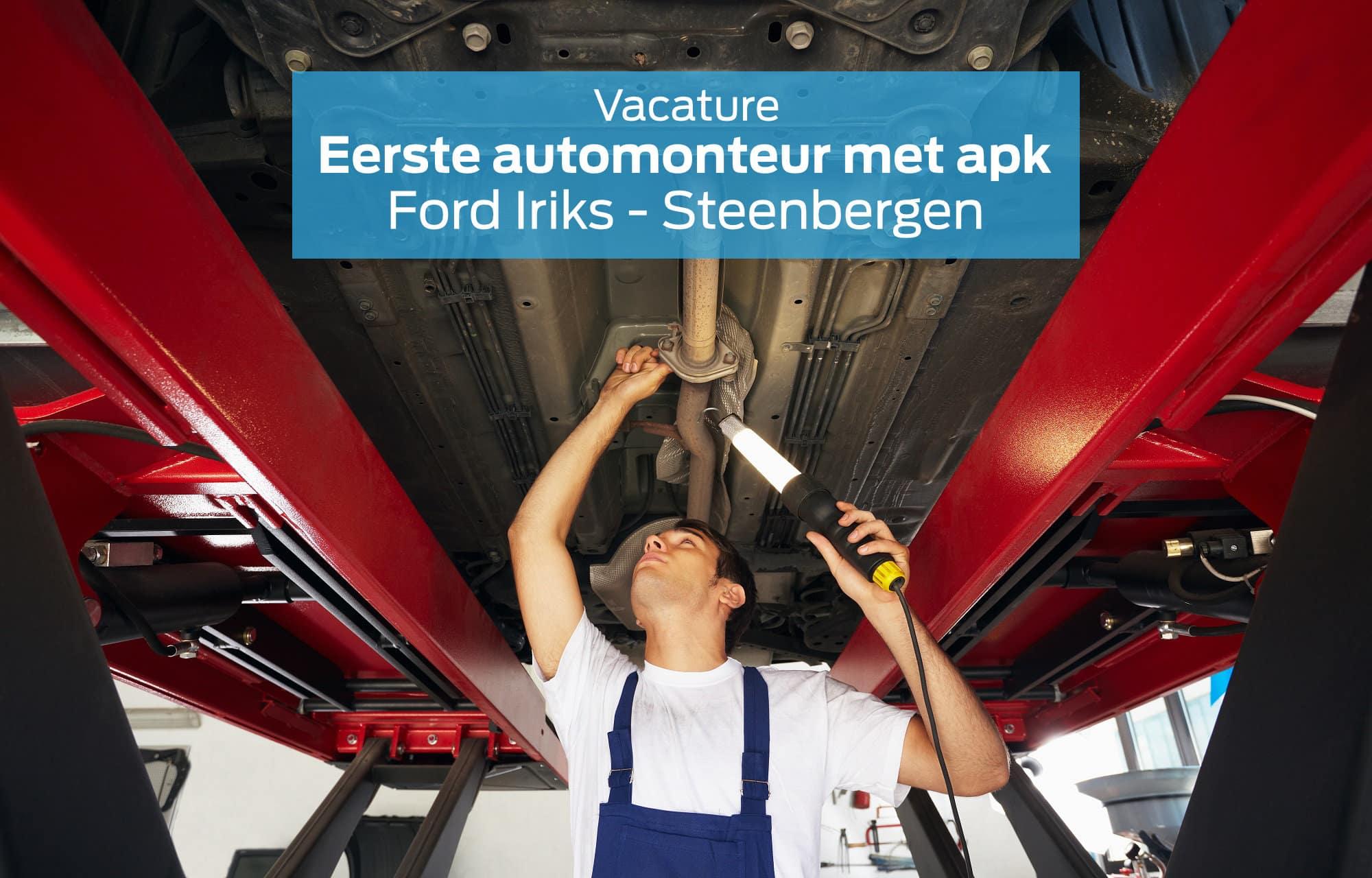 Vacature Eerste Automonteur met APK in Steenbergen