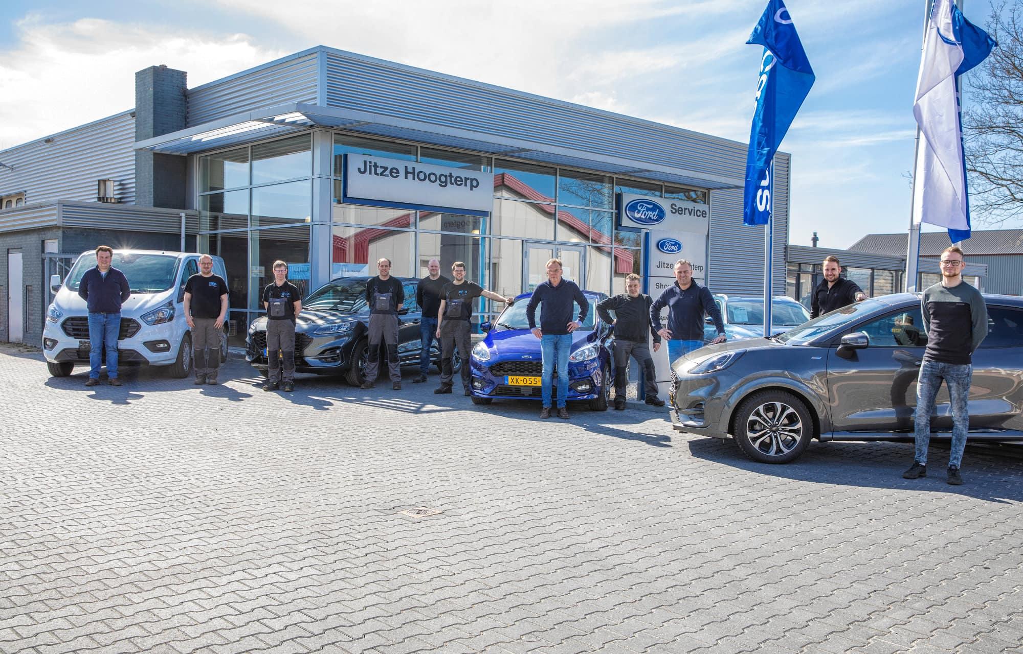 Ford Jitze Hoogterp in Oosterwolde het team