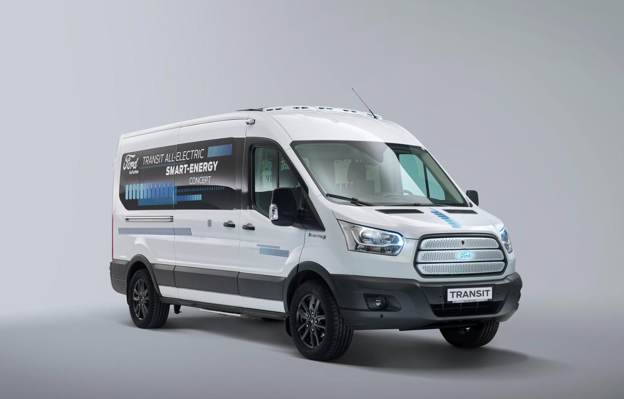 Volledig elektrische Ford Transit (EV) verwacht in 2021