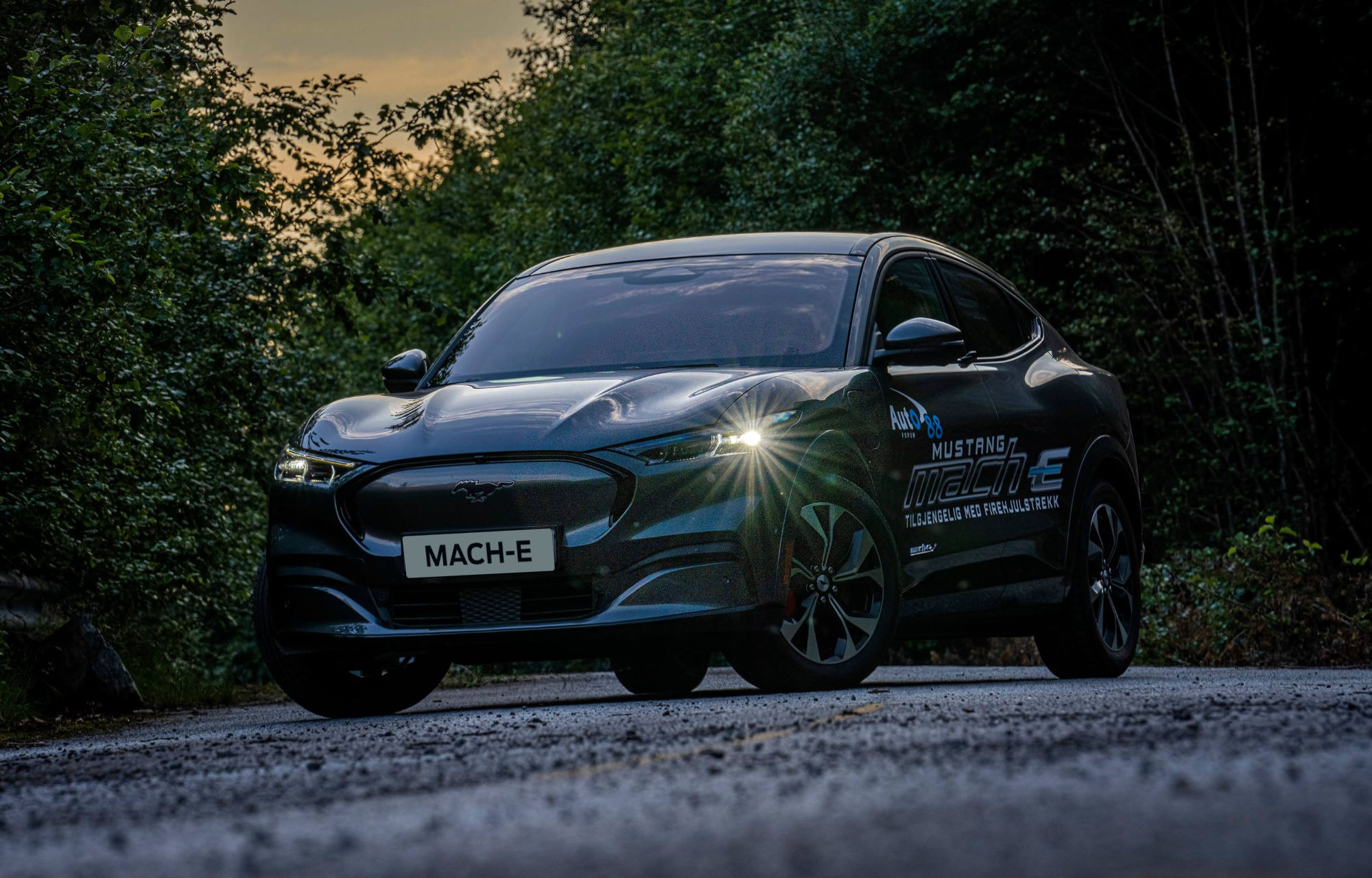Mustang Mach-E i mørket