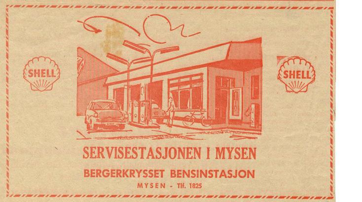 Shell servicestasjon i Bergerkrysset