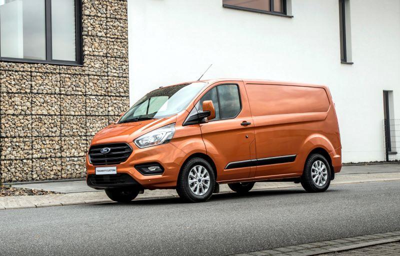 Nye Ford Transit Custom ladbar hybrid