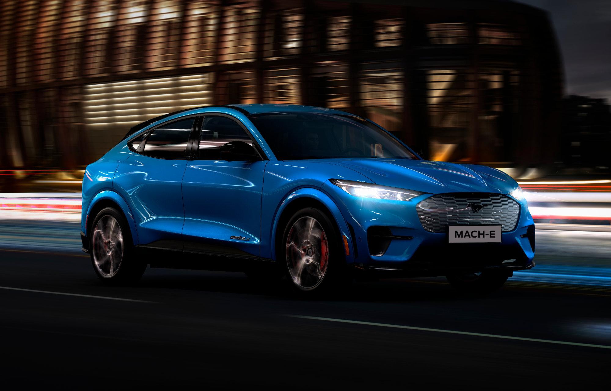 Mustang Mach-E Blå Front