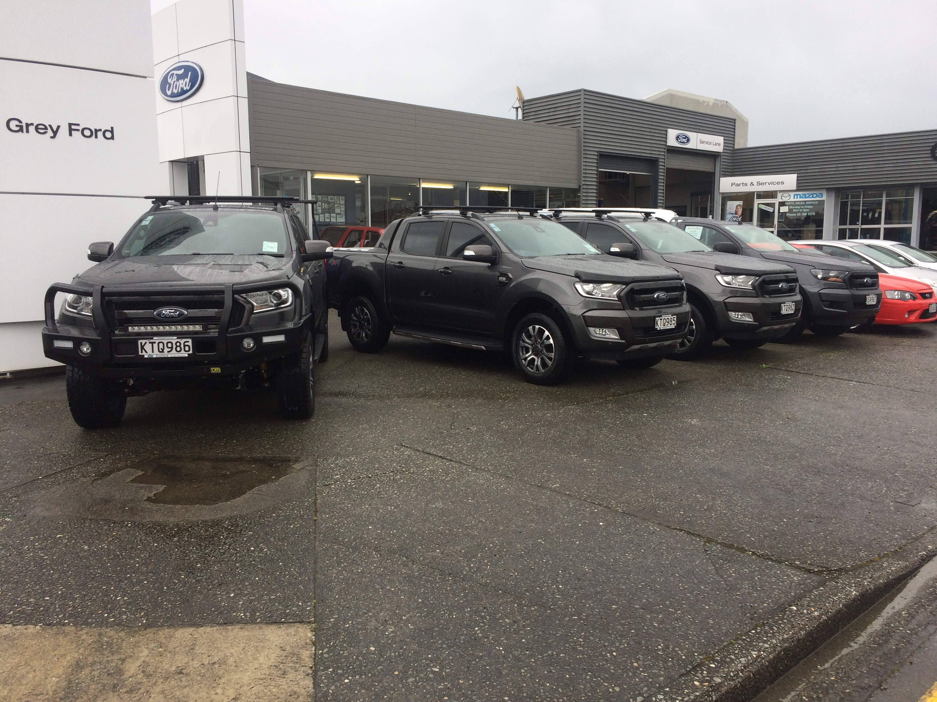 Ford Ranger at Grey Ford, Greymouth