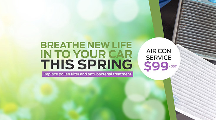Spring Aircon Service Special now available at John Andrew Ford Service centre