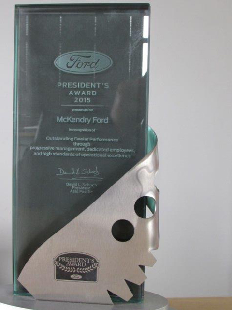 McKendry Ford Blenheim Ford Award