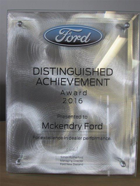 McKendry Ford Blenheim Ford Award]