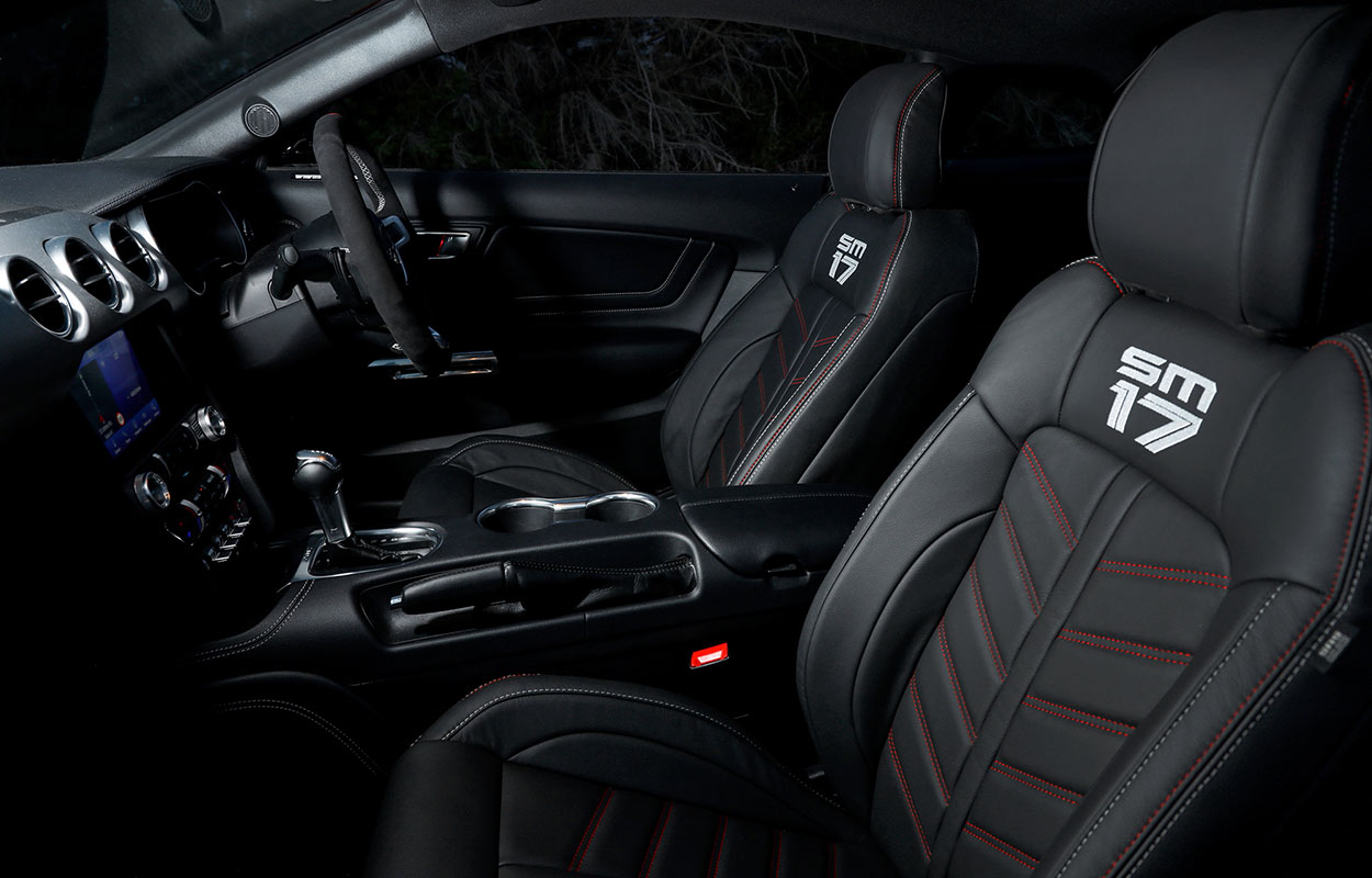 The Scott McLaughlin Limited Edition Mustang (SM17) Interior