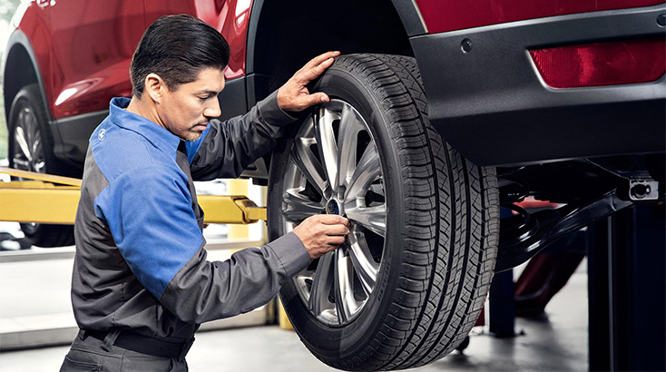 Wheel alignment, rotate, balance and brake inspection