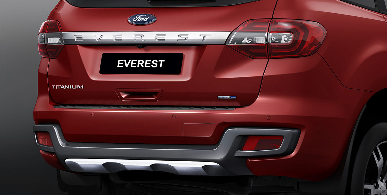 ford everest rear lower trim bumper